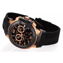 Relógio Tissot Pr T Preto Rosê Funcional Garantia 12x S / J