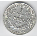 Moeda Prata 2000 Reis 1924