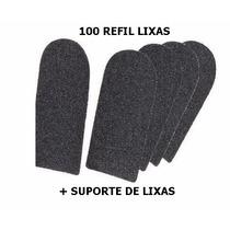 Lixa Para Pé 100 Unidades+cabo- Refil Descartavel