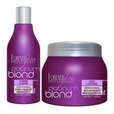 Shampoo Mascara Cabelos Loiro Platinum Blond Forever Liss