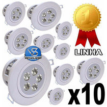 Kit 10 Spot Led 5w Lampada Dicroica Direcionável Sanca Gesso