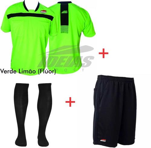 d097e321e2 Kit Arbitro De Futebol Camisa + Shorts + Meião Profissional