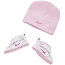 Conjunto Com Tênis E Touca Para Bebê Nike Original Importado