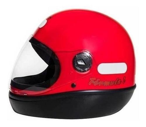 Capacete Para Moto Integral San Marino Classic Vermelho Tamanho 60