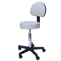 Cadeira Mocho Massagem Consultório Clínica Estética Branco