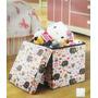Caixa Organizadora Puff Baú Infantil Guarda Brinquedo