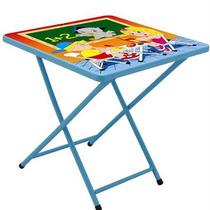 Mesa Infantil Escolar Com Duas Cadeiras Dobravel Meninos