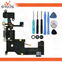 Cabo Flex Conector Carga Iphone 5 Dock Microfone + Kit Chave