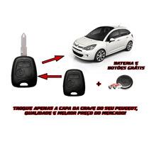 Capa Chave Com Botões E Bateria Citroen C3/picasso/berlingo