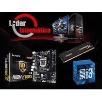 Kit Placa Mãe + Processador + Memoria 8gb - Promoção