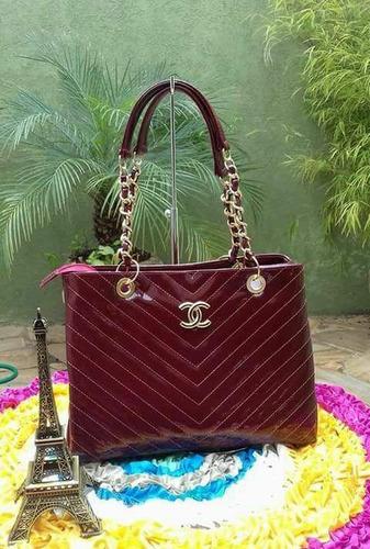 057486544 Bolsa Social Shopper De Luxo Corrente Dourada Alça Dupla - R$ 119 en ...