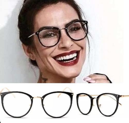 Armação Para Grau Feminino Oculos Em Acetato Geek Vintage c7f9398db6