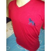 Camiseta Gola V Acostamento Malha Flame Com Elastano