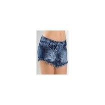 Short Saia Feminino Azul Jeans
