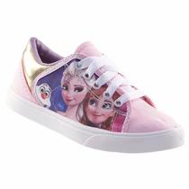 Tênis Personagens Frozen Infantil Lona Linda Leve Macia 5200
