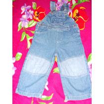 Jardineira Jeans Marca C&a Para Bebê Tam.24 A 30 Meses S2