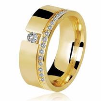 Par De Aliança Quadrada Casamento Noivado Ouro 18k Com Pedra