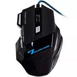 Mouse Gamer Usb Óptico Pc 3000 Dpi Led Xsoldado 7d Gm-700
