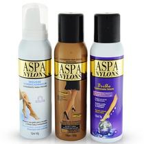 Kit Aspa Nylons - Morena Escura- Mousse Leg Make Up Selante