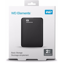 Hd Externo Portátil Western Digital Elements 2tb Usb 3.0 Wd