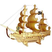 Quebra Cabeça 3d - Navio Pirata - 151 Pçs - Wamboo