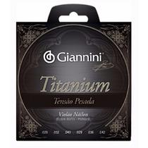 Encordoamento Cordas P/violão Titanium Pesada 85/15 Giannini