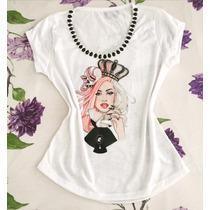Promoção - T-shirt Camiseta Lady Gaga Tam P