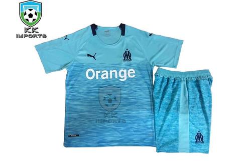 15857e621b530 Kit Infantil Olimpique De Marseille 2018 2019 Uniforme 3. R  170