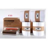 4 Kit Papel/fita Fujifilm P/ Ask300 - 800 Cópias 10x15cm