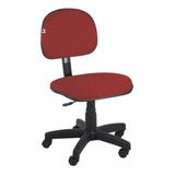 Cadeira De Escritório Shop Cadeiras Secretária Giratória Tecido Vermelho Con Estofado Do Polipropileno