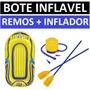 Bote Inflavel Barco Pessoas Caiaque + 2 Remos + Inflador