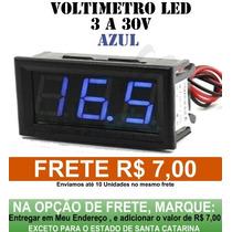 Voltímetro Digital Importado De 3 A 30v Display Azul