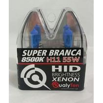 Kit Lampada Super Branca H11 8500k Gratis Par Led