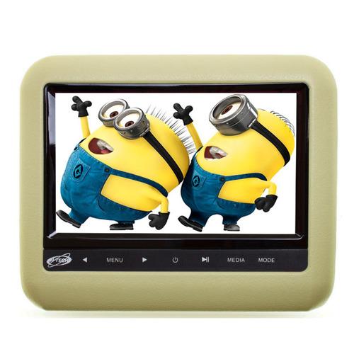 Encosto De Cabeça Acoplar 9 Pol Fone S / Fio Leitor Dvd Bege