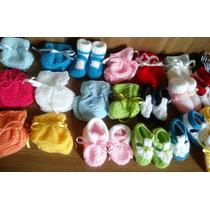 Sapatinho De Lã Em Tricô Para Bebê Feito A Mão