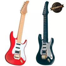 Guitarra Brinquedo Infantil Elétrica C/som Corda De Aço Dtc