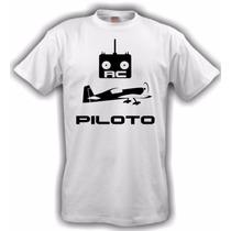 Camiseta Aeromodelismo Piloto Rc Branca
