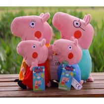 Peppa Pig E Familia De Pelúcia 4 Personagens Pronta Entrega