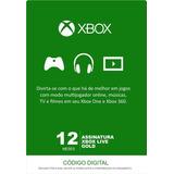 Assinatura Xbox Live Gold - 12 Meses (código 25 Dígitos)