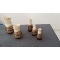 Conjunto De Vasos De Cerâmica Esmaltado