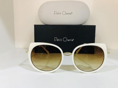 20c95152af3fe Oculos Petit Cherie Acetato Retangular Com Friso Dourado