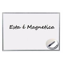 Lousa Quadro Branco Magnético Mold Alum 80 X100 Cm + Brindes