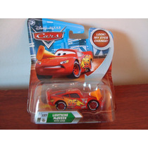Disney Pixar Cars Lightning Mcqueen With Cone Da Mattel