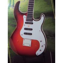 Guitarra Instrumento Musical Som E Luz Ao Tocar Cordas 40 Cm