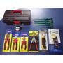Kit Eletricista Chaves Amperímetro Teste Itens Com Maleta