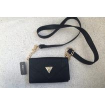 Bolsa Guess Preta Corrente Dourada Modelo Wallet No String