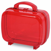 Mini Maletinha Acrílica - Maleta Vermelha - Baleiro 30 Unid