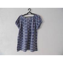 Blusa Feminina Azul Estampada Ciganinha Cód. 1133