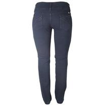 Calça Jeans Azul Marinho Fem Cós Alto Tamanho 50 Ref 1509