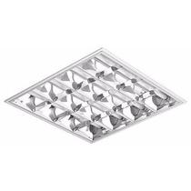 Luminária Embutir Aletada Para 4 Fluorescentes De 16, 18 20w